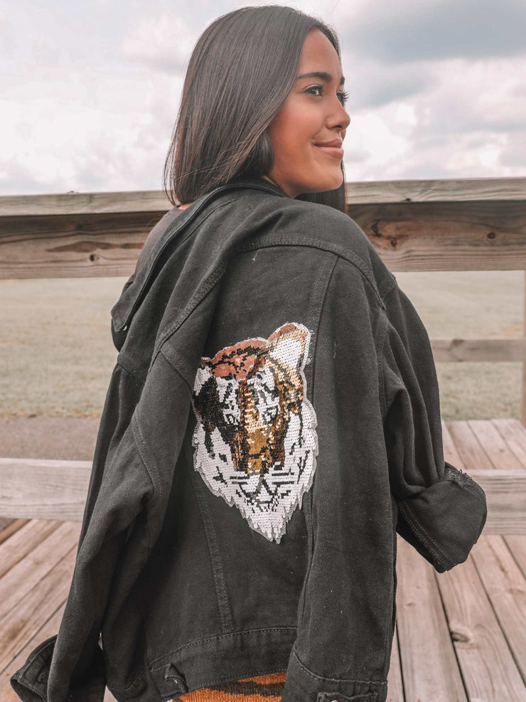 Go Tigers Denim Jacket