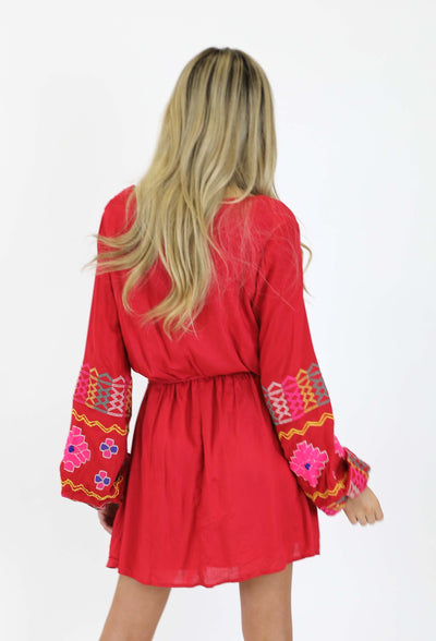Gypsy Knot Blouson Dress