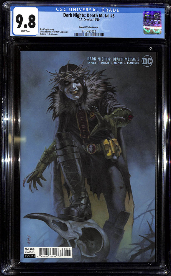 DARK NIGHTS DEATH METAL #3 (OF 6) CVR C RICCARDO FEDERICI ROBIN KING VAR CGC 9.8