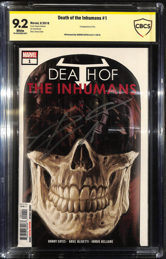 DEATH OF INHUMANS #1 CBCS 9.2