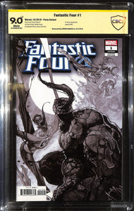 FANTASTIC FOUR #1 BIANCHI VENOMIZED PARTY VAR CBCS 9.0