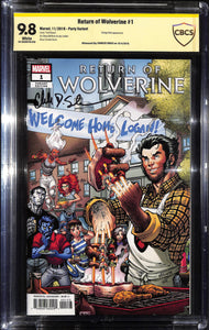 RETURN OF WOLVERINE #1 NAUCK PARTY VAR CBCS 9.8