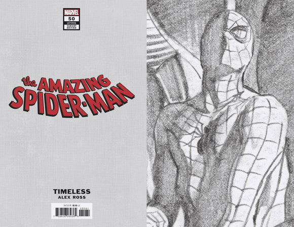 AMAZING SPIDER-MAN #50 TIMELESS VIRGIN SKETCH VAR 1:100 - MARVEL COMICS - Black Cape Comic