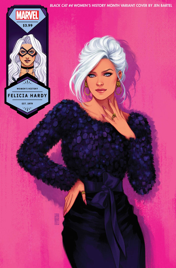 BLACK CAT #4 BARTEL BLACK CAT WOMENS HISTORY MONTH VAR