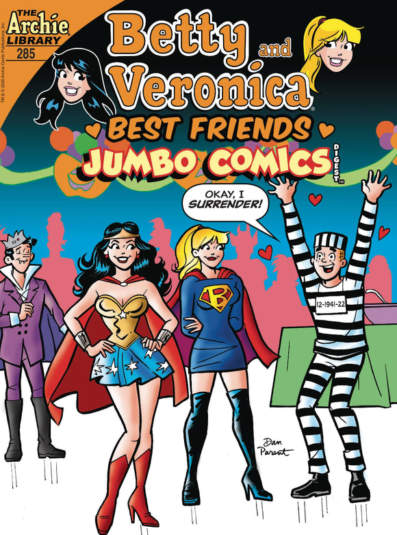 B & V BEST FRIENDS JUMBO COMICS DIGEST #285 - ARCHIE COMIC PUBLICATIONS - Black Cape Comic