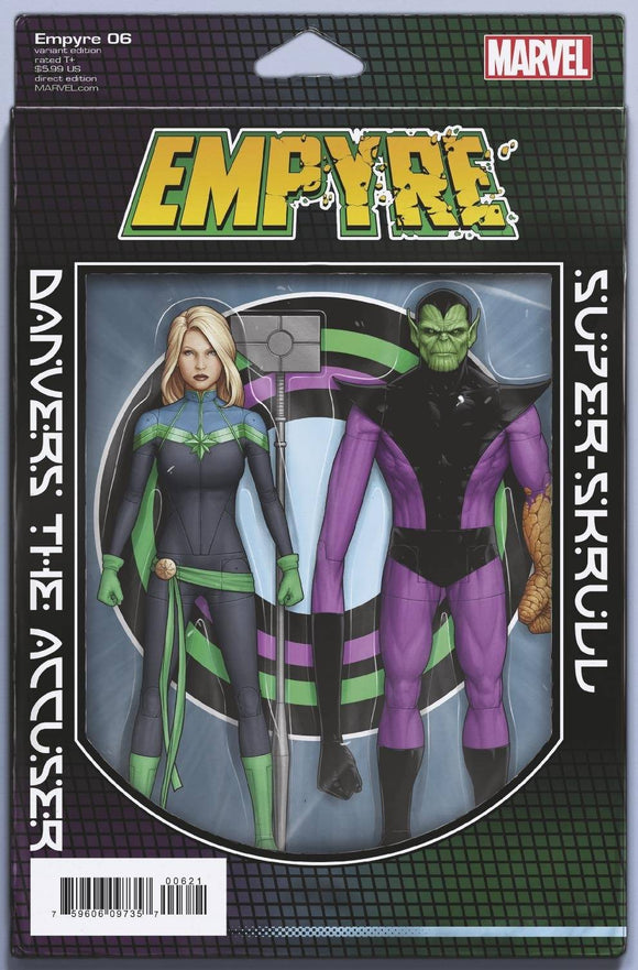 EMPYRE #6 (OF 6) CHRISTOPHER ACTION FIGURE VAR - MARVEL COMICS - Black Cape Comic