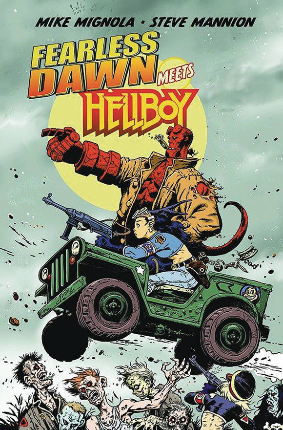 FEARLESS DAWN MEETS HELLBOY ONE SHOT MANNION CVR - ALBATROSS FUNNYBOOKS - Black Cape Comic