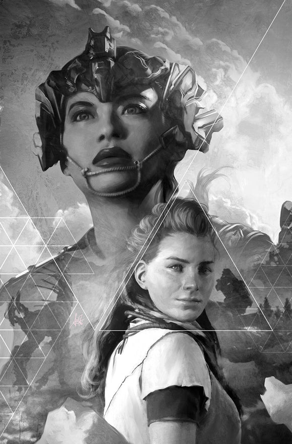 HORIZON ZERO DAWN #2 CVR D ARTGERM B&W VIRGIN 25 COPY INC
