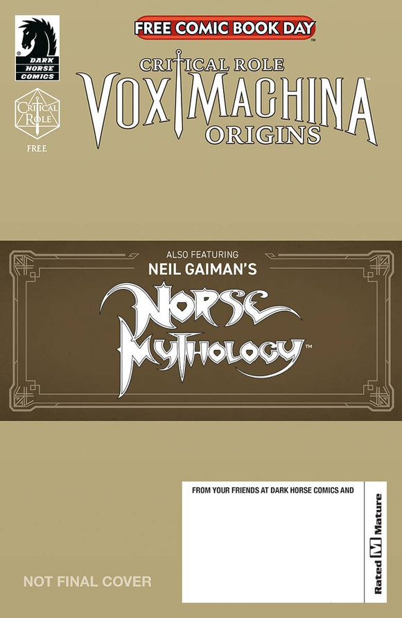 FCBD 2020 CRITICAL ROLE & NORSE MYTHOLOGY (MR) - DARK HORSE COMICS - Black Cape Comic