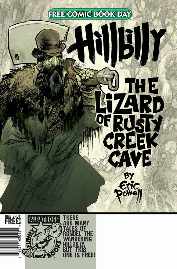 FCBD 2020 HILLBILLY LIZARD OF RUSTY CREEK CAVE - ALBATROSS FUNNYBOOKS - Black Cape Comic