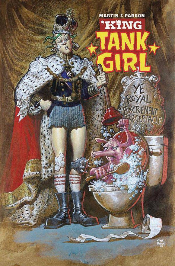 KING TANK GIRL #1 (OF 5) CVR B POWELL CARDSTOCK - ALBATROSS FUNNYBOOKS - Black Cape Comic