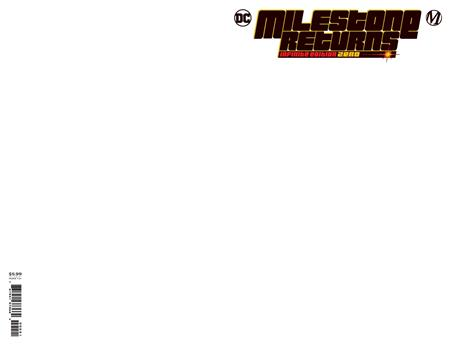 MILESTONE RETURNS INFINITE EDITION #0 (ONE SHOT) CVR C BLANK CARD STOCK VAR