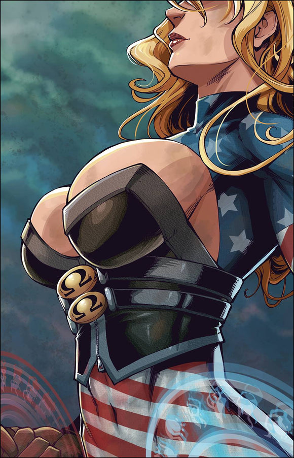 PATRIOTIKA #3 CVR B WHITE - ANTARCTIC PRESS - Black Cape Comic