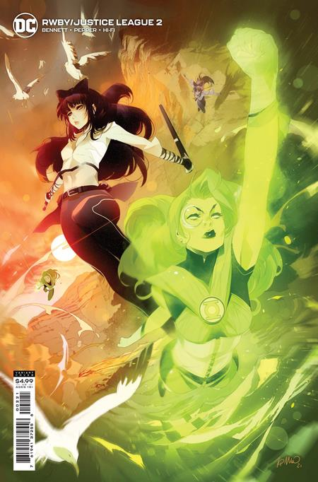 RWBY JUSTICE LEAGUE #2 (OF 7) CVR B SIMONE DI MEO CARD STOCK VAR