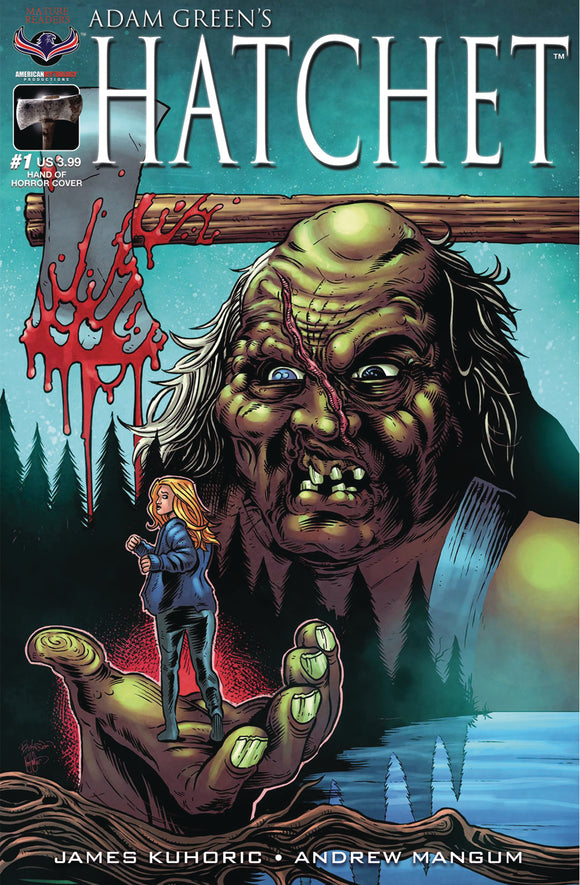 HATCHET #1 HASSON HAND OF HORROR CVR (O/A) (MR) - AMERICAN MYTHOLOGY PRODUCTIONS - Black Cape Comic