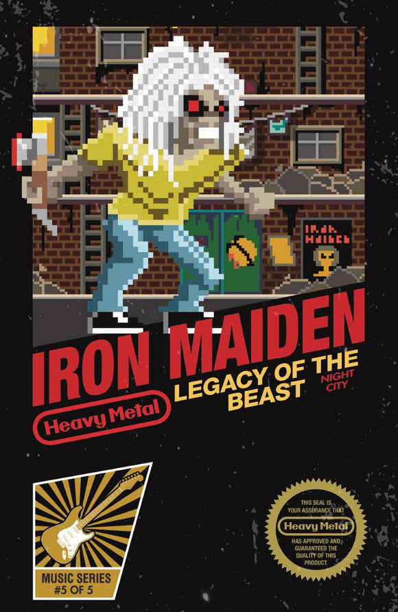 IRON MAIDEN LEGACY O/T BEAST VOL 2 NIGHT CITY #5 CVR C KREME - HEAVY METAL MAGAZINE - Black Cape Comic
