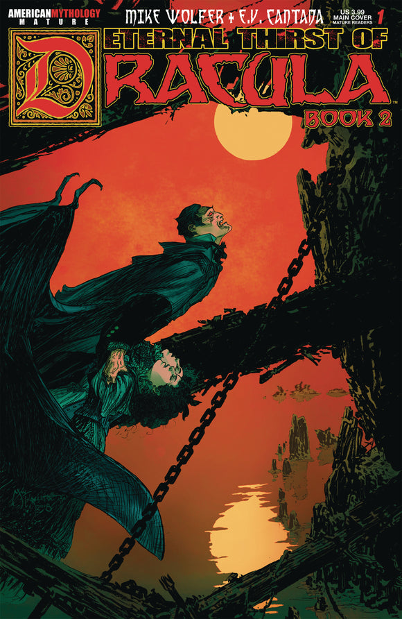 ETERNAL THIRST OF DRACULA 2 #1 (O/A) (MR) - AMERICAN MYTHOLOGY PRODUCTIONS - Black Cape Comic