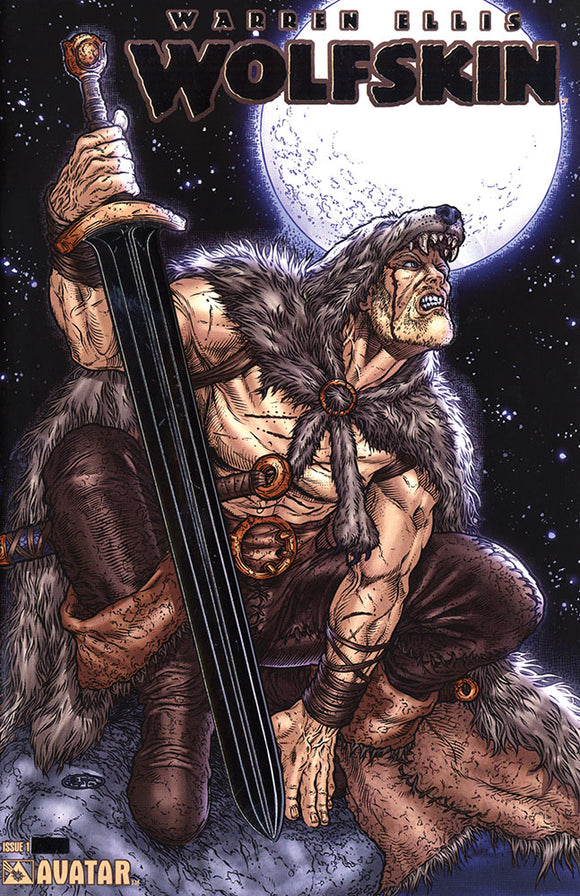 WOLFSKIN #1 PLATINUM FOIL VAR (MR) - AVATAR PRESS INC - Black Cape Comic