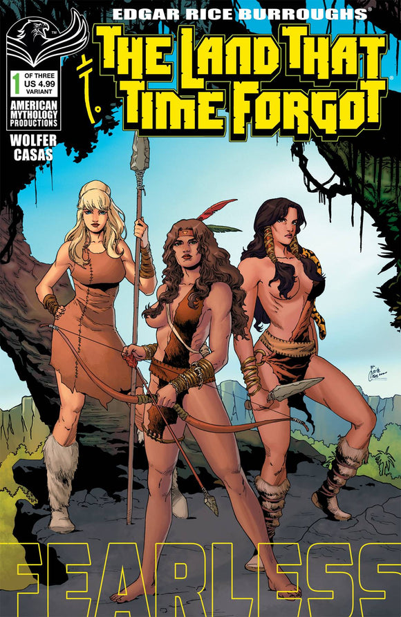 LAND THAT TIME FORGOT FEARLESS #1 CVR B WOLFER - AMERICAN MYTHOLOGY PRODUCTIONS - Black Cape Comic