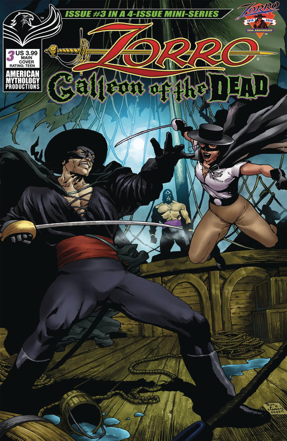 ZORRO GALLEON OF DEAD #3 CVR A MARTINEZ - AMERICAN MYTHOLOGY PRODUCTIONS - Black Cape Comic