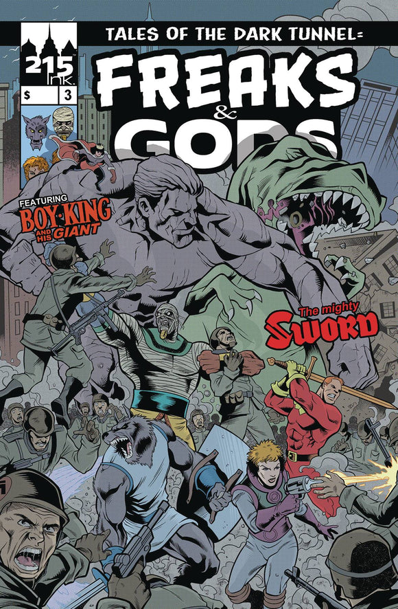 FREAKS & GODS #3 - 215 INK - Black Cape Comic