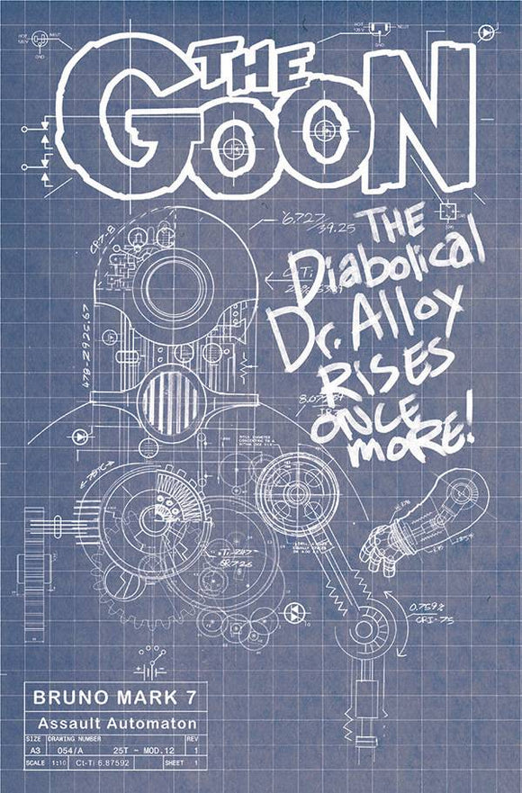 GOON #13 CVR B CARDSTOCK BRUNO BLUEPRINT - ALBATROSS FUNNYBOOKS - Black Cape Comic