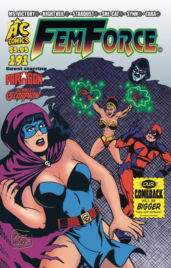 FEMFORCE #191 - AC COMICS - Black Cape Comic