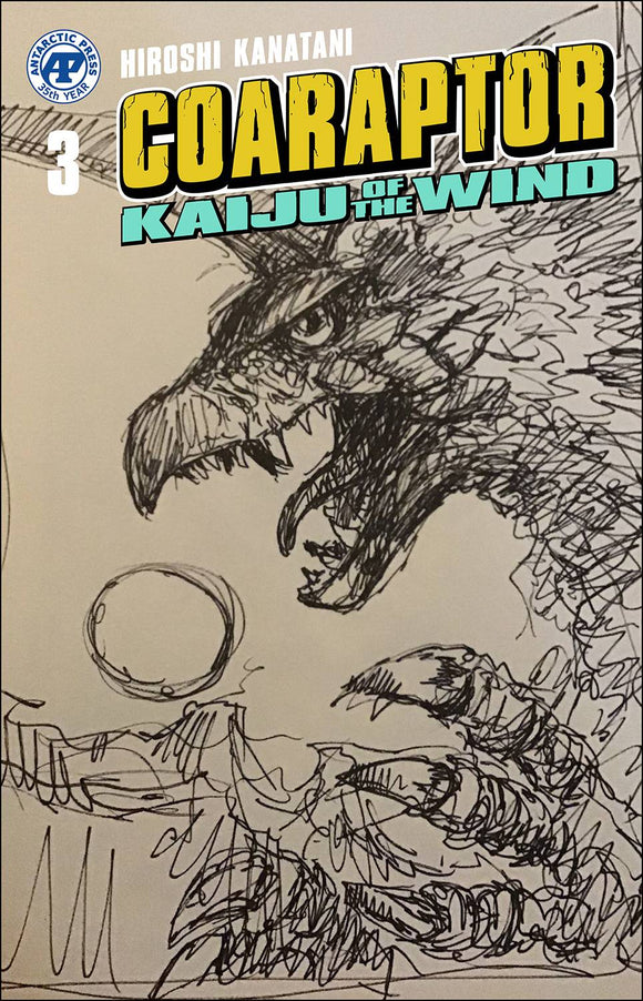 COARAPTOR ONE SHOT KAIJU OF THE WIND BOB EGGLETON CVR - ANTARCTIC PRESS - Black Cape Comic
