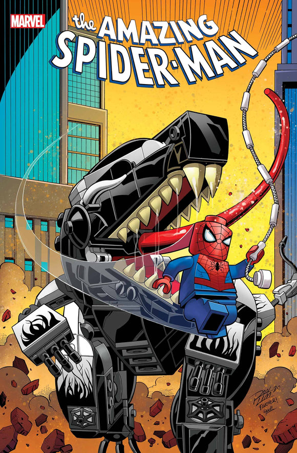 AMAZING SPIDER-MAN #55 RON LIM LEGO VAR LR - MARVEL COMICS - Black Cape Comic