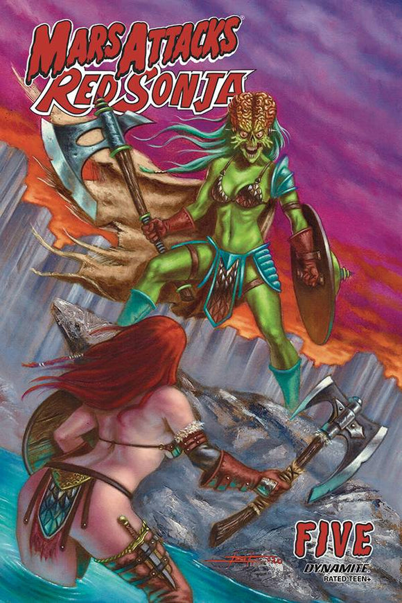 MARS ATTACKS RED SONJA #5 CVR B STRATI - DYNAMITE - Black Cape Comic