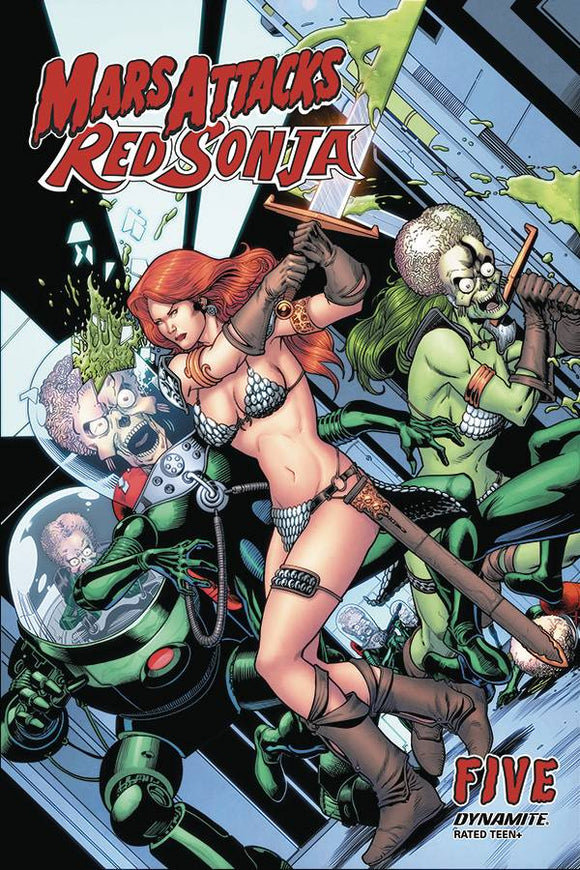 MARS ATTACKS RED SONJA #5 CVR C KITSON - DYNAMITE - Black Cape Comic