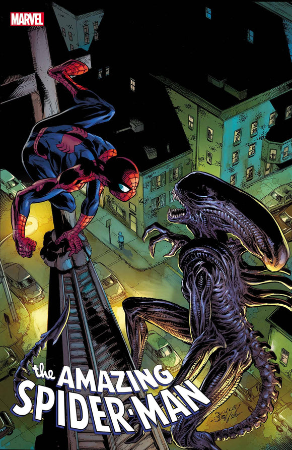 AMAZING SPIDER-MAN #56 BAGLEY MARVEL VS ALIEN VAR - Black Cape Comics
