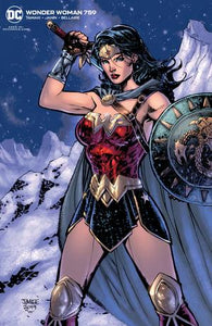 WONDER WOMAN #759 CARD STOCK JIM LEE VAR
