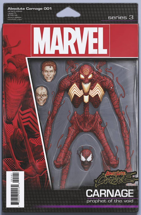 ABSOLUTE CARNAGE #1 (OF 5) CHRISTOPHER ACTION FIGURE VAR AC - MARVEL COMICS - Black Cape Comics