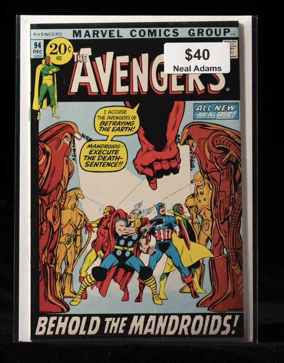 Avengers (1963) #94 - MARVEL COMICS - Black Cape Comics