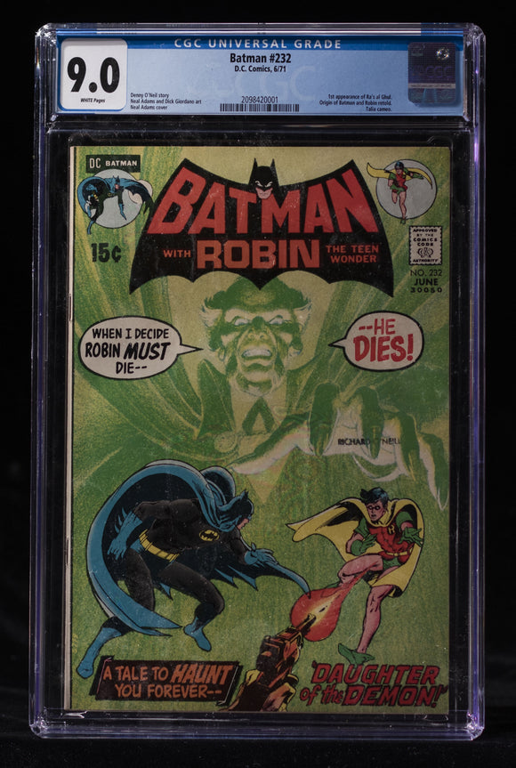 BATMAN #232 CGC 9.0 - DC COMICS - Black Cape Comics