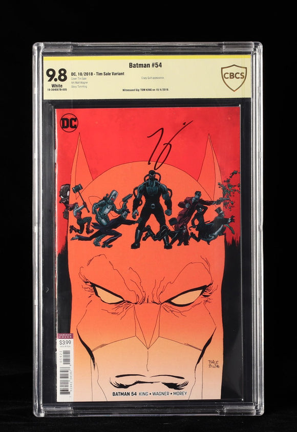 Batman #54 Tim Sale Variant signed CBCS 9.8 - DC COMICS - Black Cape Comics