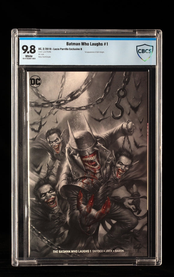 Batman Who Laughs #1 Lucio Parrillo Exclusive B CBCS 9.8 - DC COMICS - Black Cape Comics