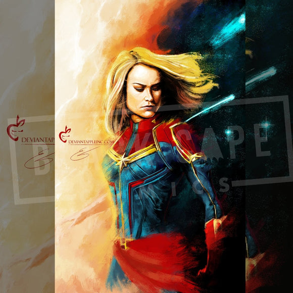 Captain Marvel Print - Black Cape Comics - Black Cape Comics