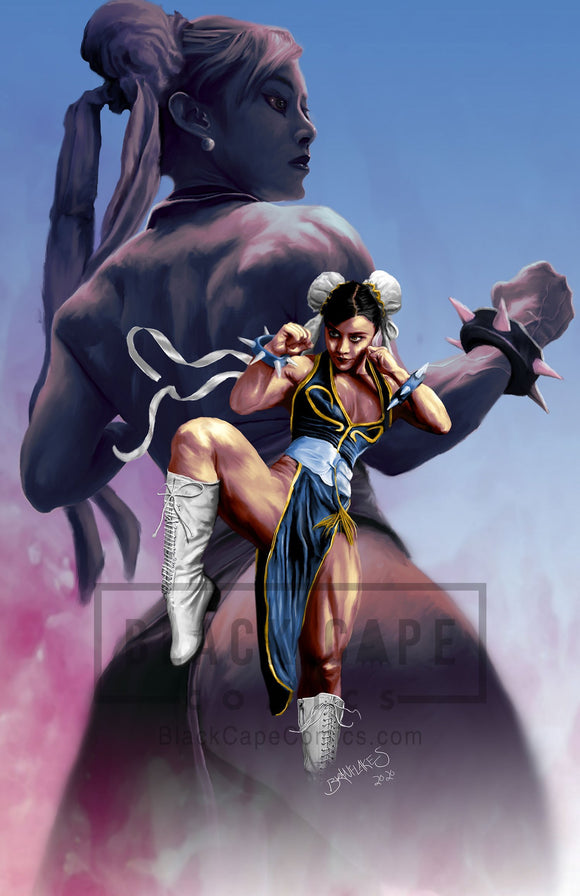Chun Li (Yaun Herong Tribute) Print - Black Cape Comics - Black Cape Comics