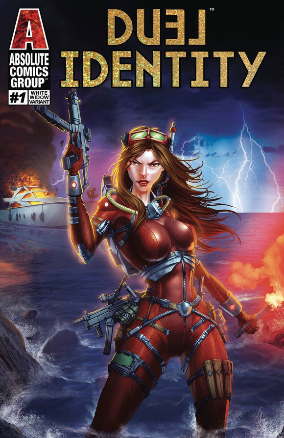 DUEL IDENTITY #1 WHITE WIDOW CVR - ABSOLUTE COMICS GROUP - Black Cape Comics