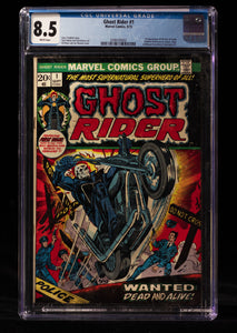 Ghost Rider (1973) #1 CGC 8.5 - MARVEL COMICS - Black Cape Comics