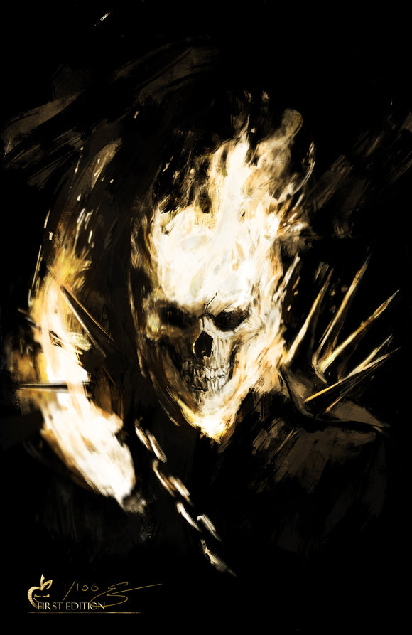 GHOST RIDER PRINT 1ST EDITION - Black Cape Comics - Black Cape Comic