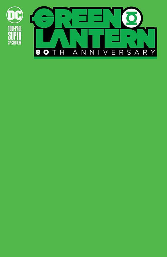 GREEN LANTERN 80TH ANNIV 100 PAGE SUPER SPECT #1 BLANK VAR E - DC COMICS - Black Cape Comics