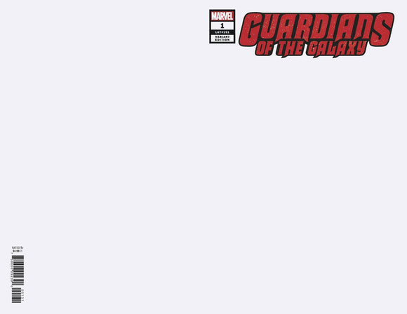 GUARDIANS OF THE GALAXY #1 BLANK VAR - MARVEL COMICS - Black Cape Comics