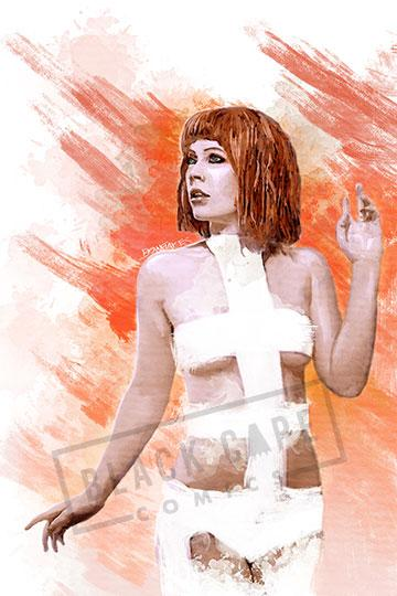 Leeloo Print - Black Cape Comics - Black Cape Comics