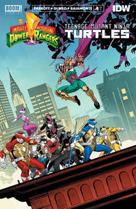 POWER RANGERS TEENAGE MUTANT NINJA TURTLES #4 CVR A MORA (C: - BOOM! STUDIOS - Black Cape Comics