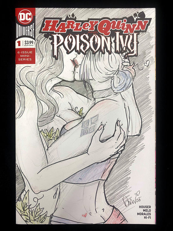 Harley Quinn and Poison Ivy Sketch Cover - Art by Pricklykittenart