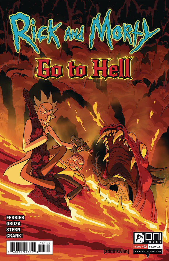 RICK AND MORTY GO TO HELL #2 CVR A OROZA - ONI PRESS INC. - Black Cape Comics