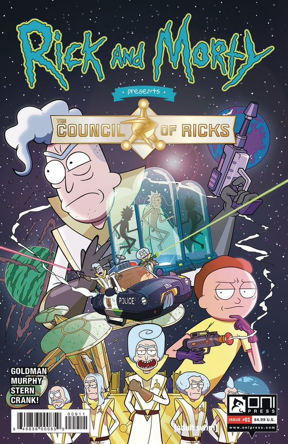 RICK AND MORTY PRESENTS COUNCIL OF RICKS #1 CVR A MURPHY - ONI PRESS INC. - Black Cape Comics